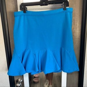 Carven Blue Mini Skirt